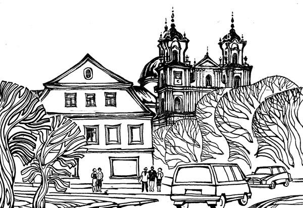 Гродно. Фрагмент Советской площади