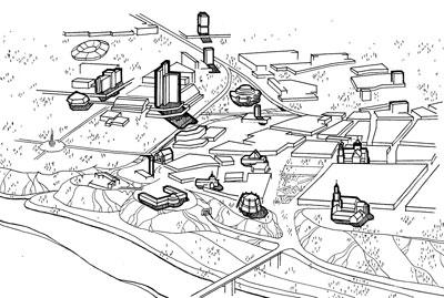 Гродно. Проект застройки центральной площади. Гродногражданпроект. 1978 г.