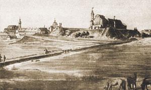 Рис.3. Дворец на акварели И. Пешки (XIX в.)