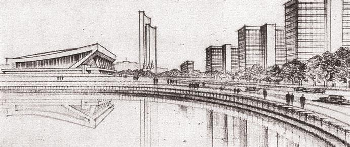 Доминирующей вертикалью Минска должен был стать Дом знаний высотой 24–30 этажей в районе Центральной площади (по Л. Потапову)