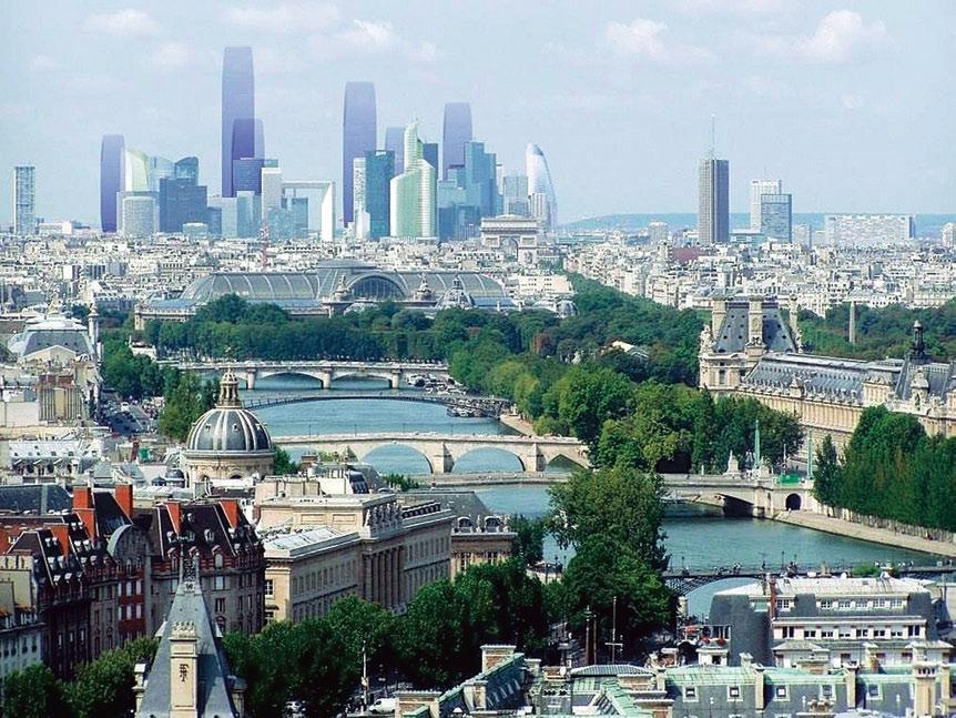 Вариант развития силуэта парижского района Дефанс