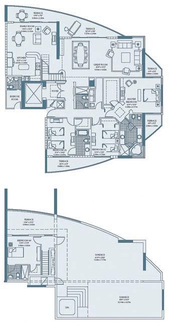 Рис. 13. План двухуровневого пентхауса. Лас-Вегас, США, 2003 г.