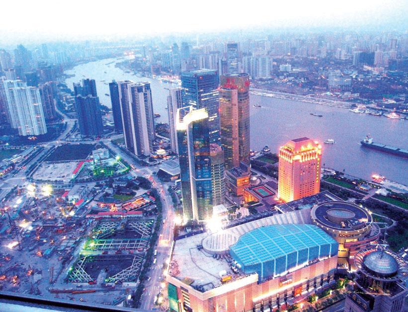 Рис. 2. Строительство небоскреба в Шанхае
