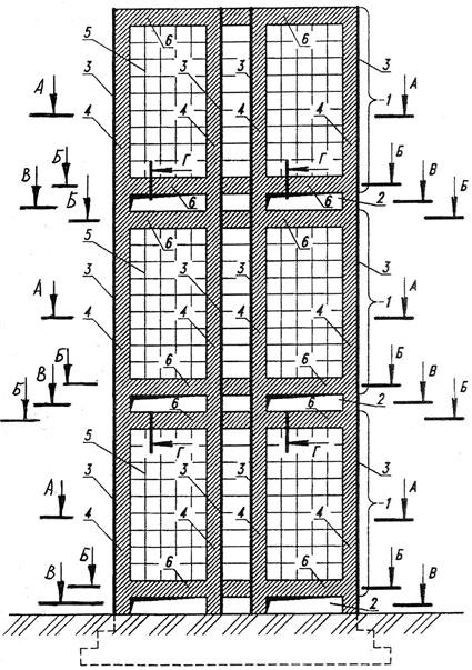 Рис. 1. Компоновочная схема высотного здания