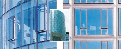 Рис. 5. выдвижной стеклопакет на здании Main Tower