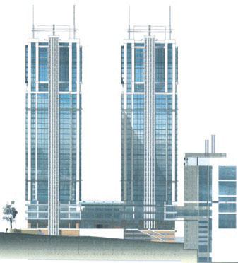3. Комплекс 37-этажных жилых домов, ул. Предславинская, г.Киев. Руководитель проекта С.Бабушкин