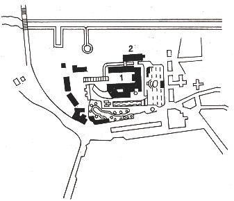 Cлонимский театр (2) на плане города 1796 г. [1]