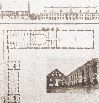 Проект фасада и план первого этажа театра А. Сапеги в Ружанах [1]