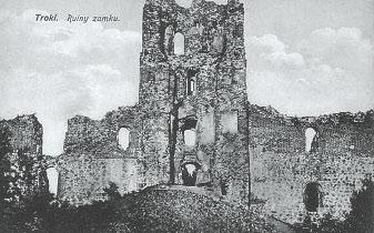 Тракайскi замак. Фота 1916 г