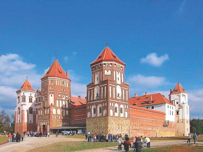 Мiрскi замак. Сучасны выгляд