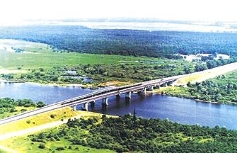 2. Мост через Днепр у города Речица