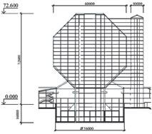 Рис. 1. Схема монолитного каркаса Национальной библиотеки Беларуси