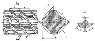 Рис. 3. Четырехсторонний (трефовый) арматурный профиль