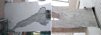 Рис. 3. Характерные трещины в опорном узле фермы